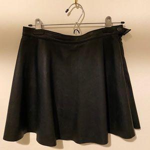OG American Apparel 100% Leather Circle Skirt